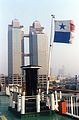 Boat to Incheon South Korea at Dalian Port 2002.jpg