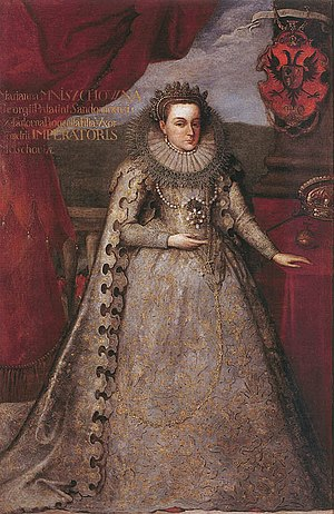 Marina Mniszech - Marina Mniszech in coronation robes, 1606.