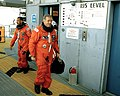 Bolden and Shriver at LC-39B during STS-31 preparations.jpg