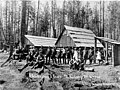 Bordeaux Brothers Logging Co camp, Mason County, Washington, ca 1895 (INDOCC 569).jpg