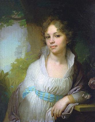 Vladimir Borovikovsky - Portrait of Maria Lopukhina, 1797