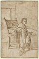 Boy Holding a Sword, Standing near a Table in an Interior; verso- Various Sketches of Figures and Ornamental Forms MET DP855263.jpg