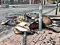 Brandreste Barrikade Schanzenstraße Kampstraße Hamburg 2017-07-08.jpg