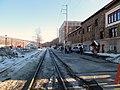 Brattleboro station platform, March 2015.JPG