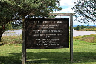 Briar Creek (Susquehanna River) - Sign for the Briar Creek Lake Park