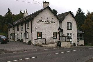 Bridge of Cally village in Perth and Kinross, Scotland, UK