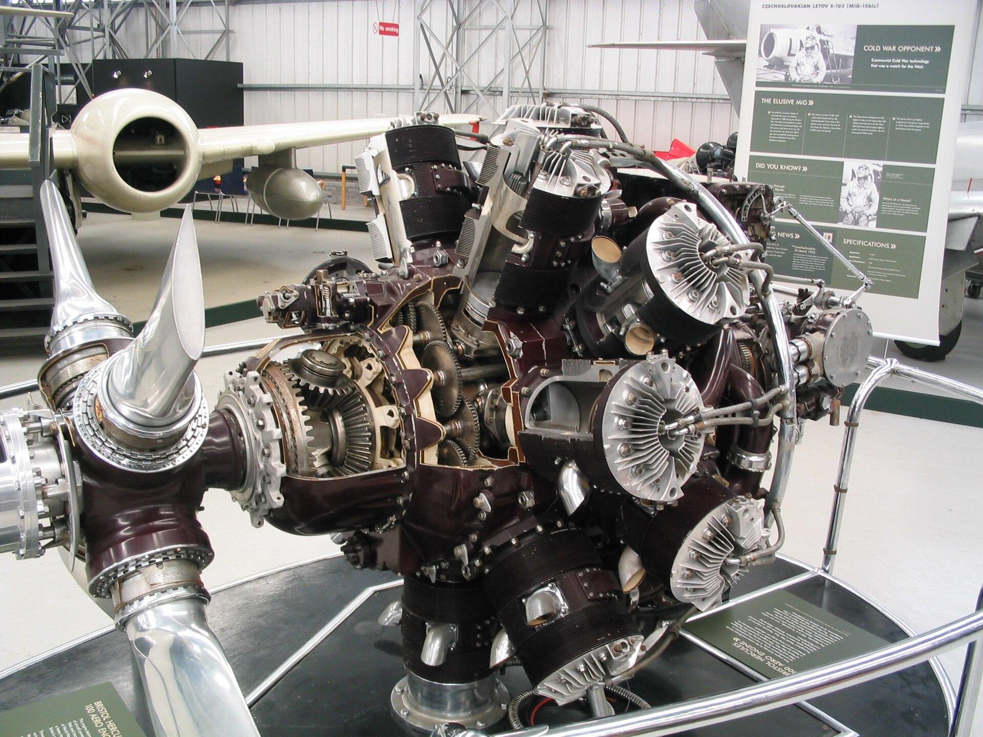 Px Bristol Hercules East Fortune on Bristol Centaurus Sleeve Valve Engine
