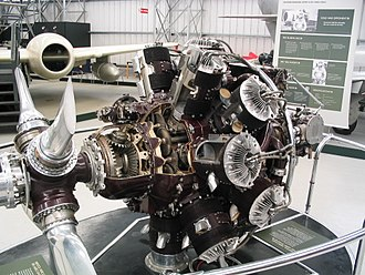 Bristol Hercules - Cutaway Bristol Hercules engine at the National Museum of Flight, East Fortune, Scotland