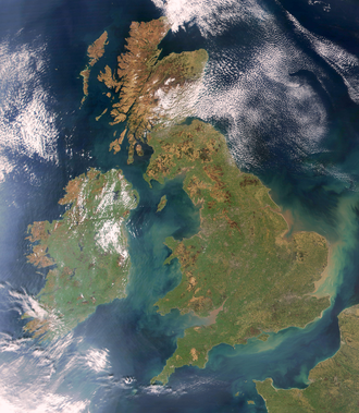 British nationalism - Satellite photograph of Great Britain and Ireland. Originally British nationalism was typically applicable to Great Britain. British nationalism typically focuses on the unity of Great Britain and Northern Ireland.
