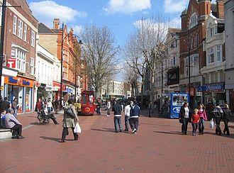 Broad Street, Reading - View east of Broad Street in 2008