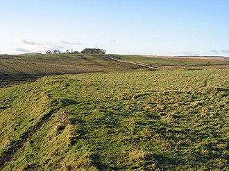 Carrawburgh - Southern rampart of Brocolitia