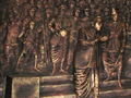Bronze sculpture depicting Mahad water moment by B R Ambedkar.png