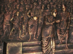Mahad Satyagraha - Bronze sculpture depicting Mahad movement by B R Ambedkar