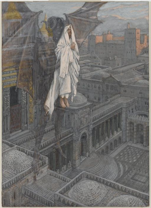 Brooklyn Museum - Jesus Carried up to a Pinnacle of the Temple (Jésus porté sur le pinacle du Temple) - James Tissot - overall
