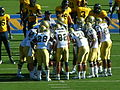 Bruins in huddle at UCLA at Cal 2010-10-09 4.JPG