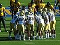 Bruins in huddle at UCLA at Cal 2010-10-09 4.JPG