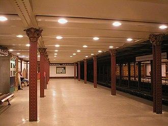 Metro Line M1 (Budapest Metro) - Image: Budapest Foeldalatti Opera Station