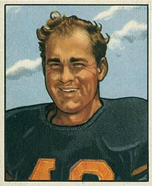 Buddy Tinsley - Jankovich on a 1950 Bowman football card