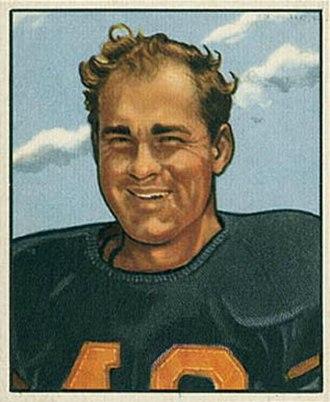 Buddy Tinsley - Jankovich on a 1950 Bowman football card