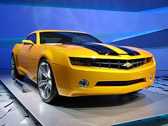 Transformers (film) - The Chevrolet Camaro used to portray Bumblebee