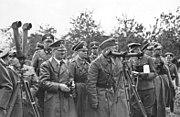 Bundesarchiv Bild 101I-013-0064-35, Polen, Bormann, Hitler, Rommel, v. Reichenau