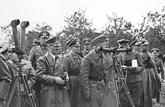 Erwin Rommel - Hitler in Poland (September 1939). Rommel is on his left and Martin Bormann on his right.