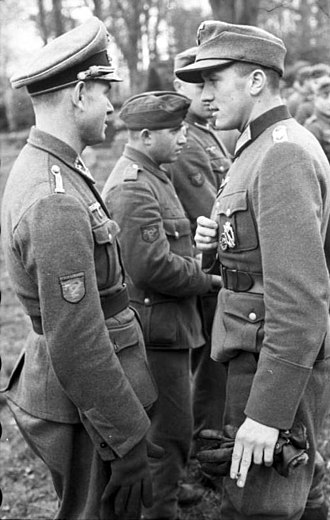 Ostlegionen - Members of the Nordfrankreich Legion recruited from the ''Reichskommissariat'' of Belgium and Northern France, France 1943.