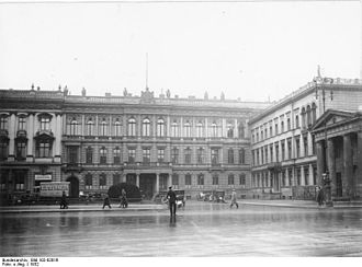 Embassy of the United States, Berlin - Blücher Palace, the embassy building on Pariser Platz in 1932