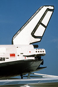 Buran partian left side view on An-225 (Le Bourget 1989).JPEG