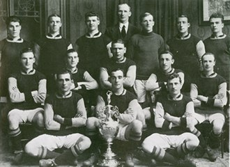 Burnley F.C. - The team photograph of the Championship-winning side in the 1920–21 season.
