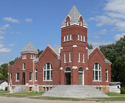 Burr Oak, Kansas United Methodist from SW 1.JPG