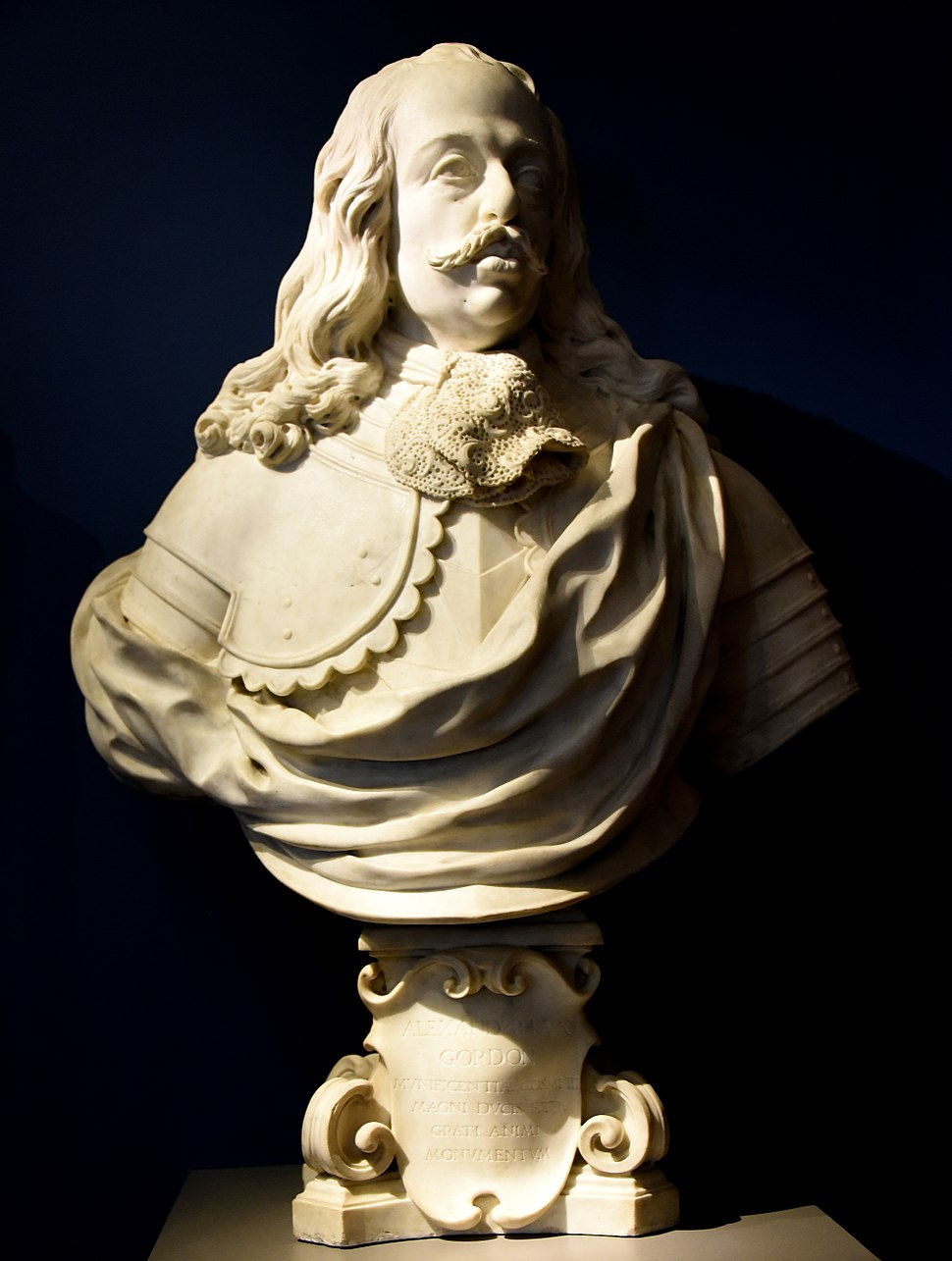Bust of Cosimo III de%27 Medici, 1717-1718 CE. By Giovanni Battista Figgini. Marble, from Italy, Florence. The Victoria and Albert Museum, London