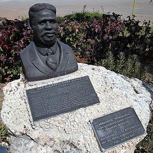 Juan Gualberto Gómez - Bust of Juan Gualberto Gómez at the Juan Gualberto Gómez Airport.