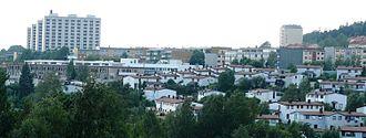 Linderud - Overview of Linderud and the adjacent neighborhood Veitvet.