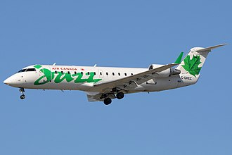 Jazz (airline) - Jazz in Air Canada Jazz livery CRJ-200
