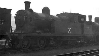 Gorton Locomotive Works - GCR Class 9K (LNER Class C13) 4-4-2T 67433 was built by the GCR at Gorton works in 1905. Photo at Gorton on 8 November 1958 shortly before scrapping in the works