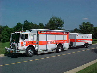 Heavy rescue vehicle - Charlottesville-Albemarle Rescue Squad's technical rescue vehicle