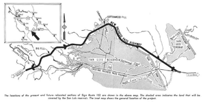 California State Route 152 - Image: CA Route 152 Realignment 1963