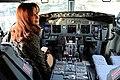 CFK en la cabina de avión de Aerolíneas Argentinas.jpg