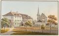 CH-NB - Münchenbuchsee, Pfarrhaus und Kirche - Collection Gugelmann - GS-GUGE-WEIBEL-D-92.tif
