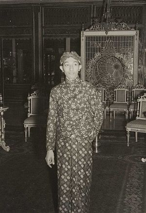 Pakubuwono XII - Pakubuwono XII in his youth
