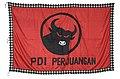 COLLECTIE TROPENMUSEUM Vlag van de Partai Demokrasi Indonesia Perjuangan TMnr 6195-1.jpg