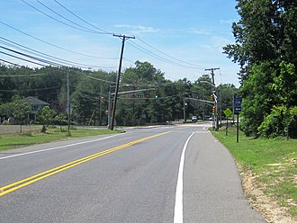County Route 524 (New Jersey) - Approaching the northern terminus of CR 524A along westbound CR 524