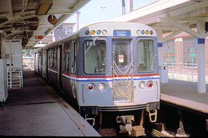 "2600 series (Chicago ""L"") - 2600-series cars as-built at the Cicero-Berwyn Terminal on July 17, 1994"