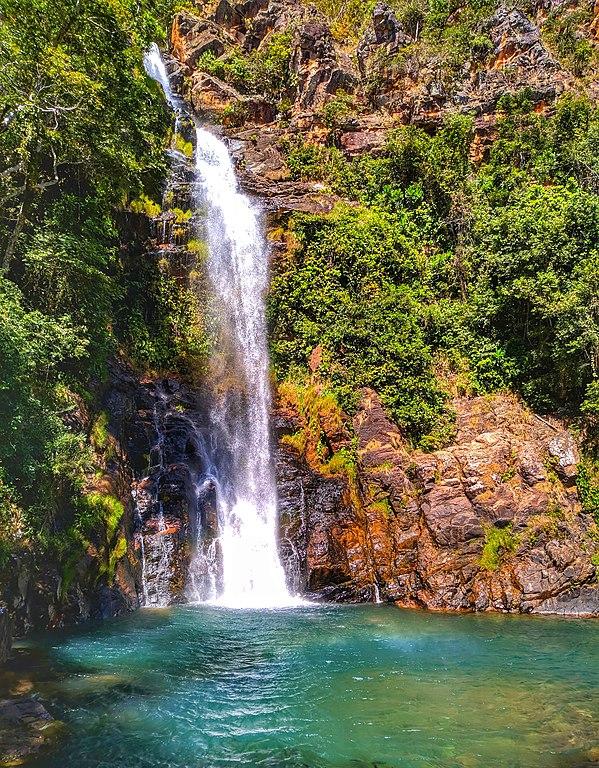 cachoeira serra azul atração em nobres no mato grosso