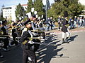 Cal Band en route to Memorial Stadium for 2008 Big Game 10.JPG