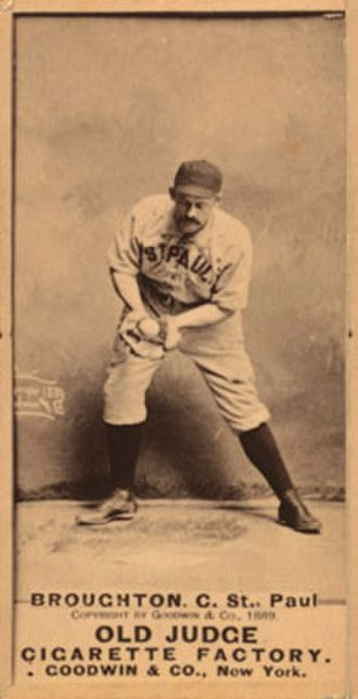 Cal Broughton - Old Judge baseball card of Broughton