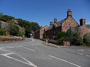 Caldy - The B5140 at the junction with Croft Drive