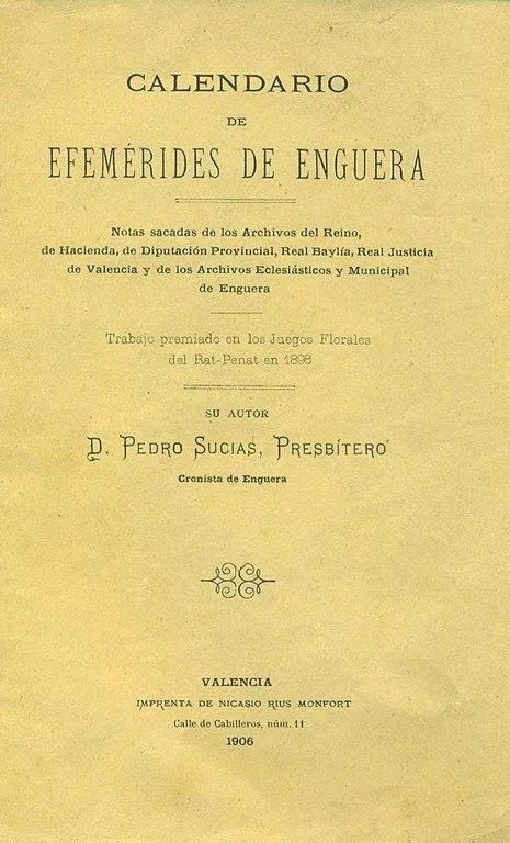 Calendario 1906.File Calendario De Efemerides De Enguera Portada 1906 Jpg