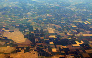 Central Valley (California) - Part of the Valley as seen from the air